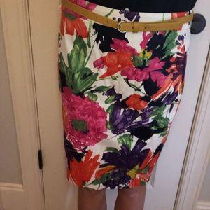 J. Crew Skirts - Floral print skirt